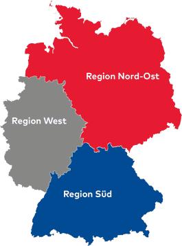 Vertriebsregionen Deutschland
