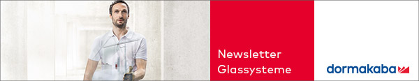 dormakaba Glassysteme-Newsletter Header